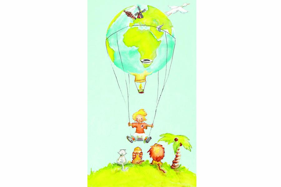 Kaart op maat Luchtballon