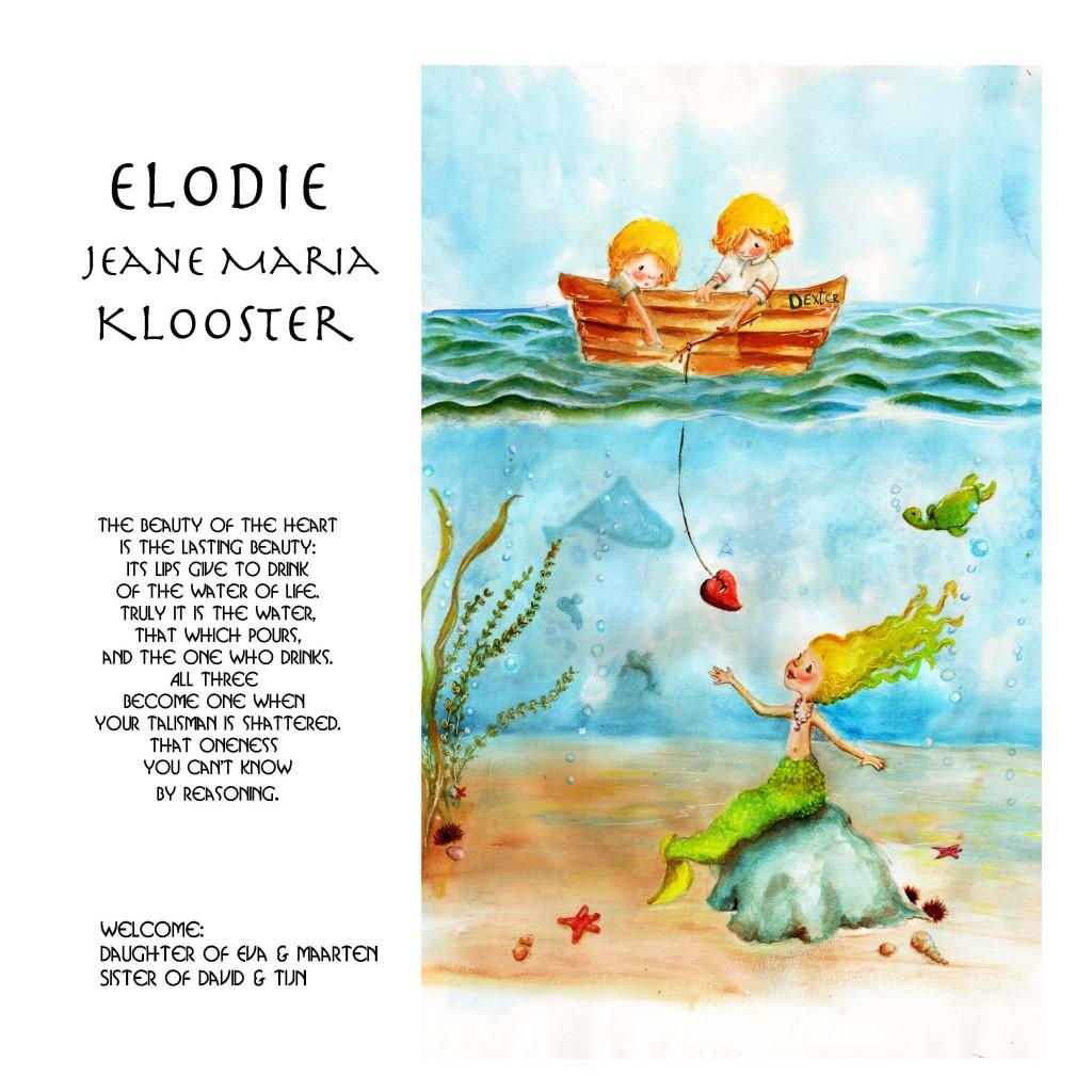 Elodie geboortekaart